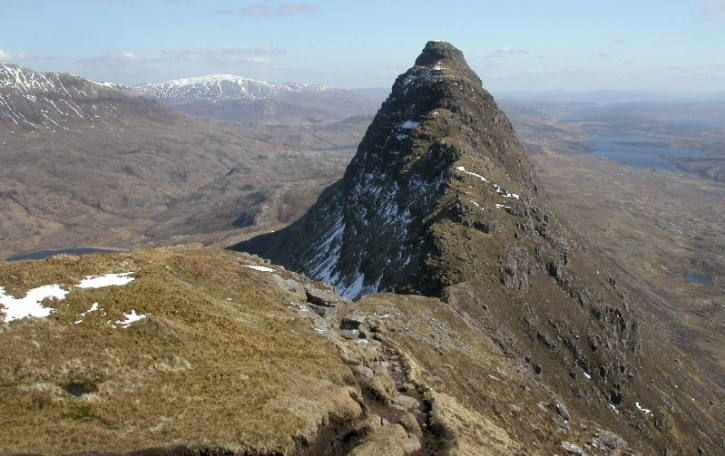 Suilven,in remote Sutherland, where Ewan MacColl's ashes lie