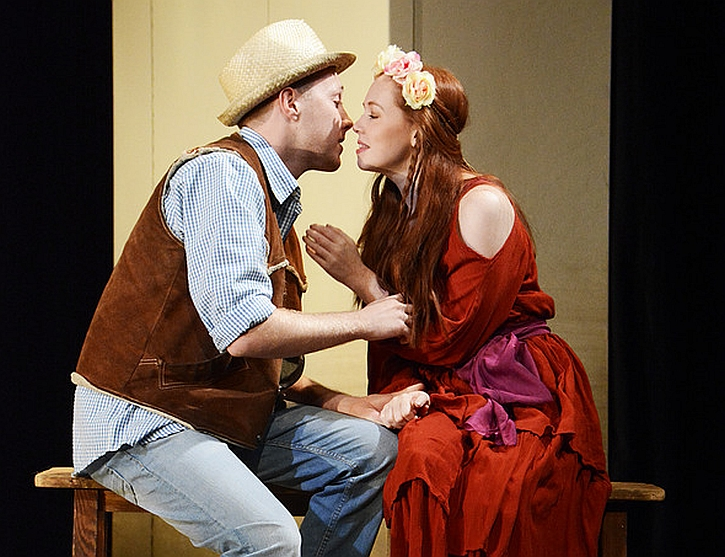 Vanessa Schofield as Perdita and Jordon Kemp as Florizel in the Northern Broadsides production (photo by Nobby Clark)