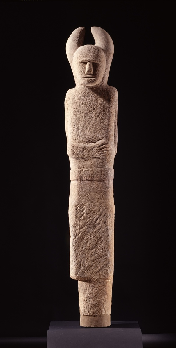 Two-faced sandstone figure from Holzgerlingen, Germany, c500-400BC