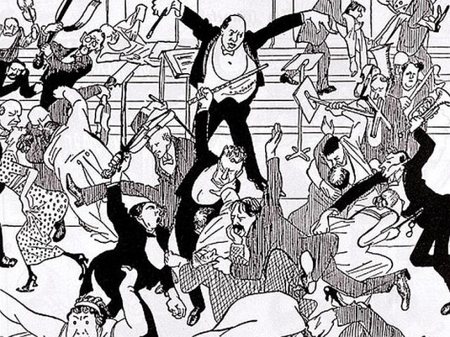 Watschenkonzert, caricature in Die Zeit from April 6, 1913