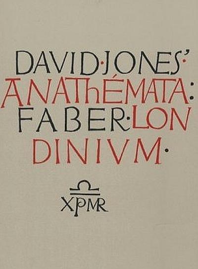 The Anathemata cover, 1952