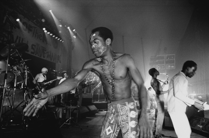 Fela Kuti photographed by Bernard Matussière