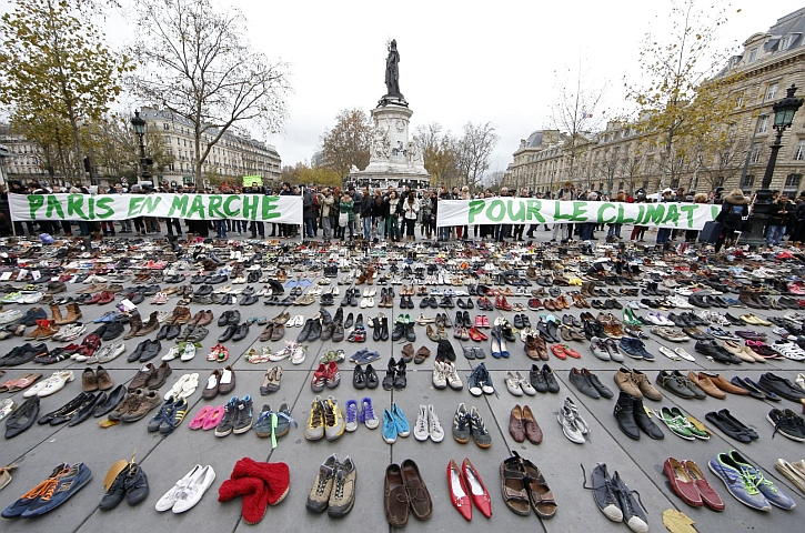 Parisians couldn't hold their climate change march, so they left a powerful symbol instead