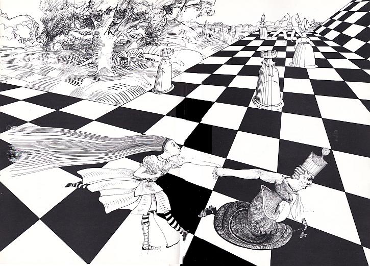 Ralph Steadman, Red Queen, 1972