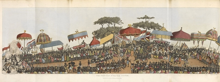 Thomas Edward Bowdich, Mission from Cape Coast Castle to Ashantee, 1819, The first day of the Yam Festival
