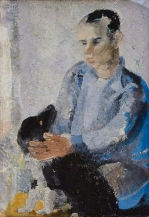 Winifred Nicholson, Ben with Slinky