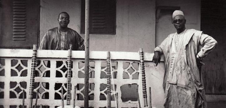Ali Farka Toure and Toumani Diabate in Niafunké