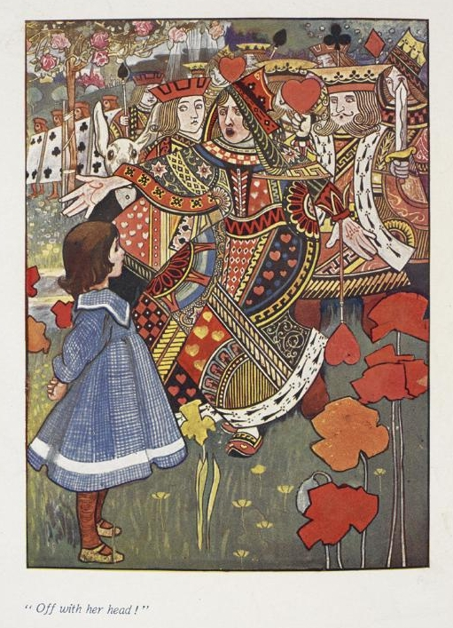 Alice with the Red Queen from an illustrated edition of Alice's Adventures in Wonderland by Charles Robinson, 1907