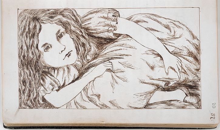 Charles Dodgson's drawing of Alice from Alice's Adventures Under Ground