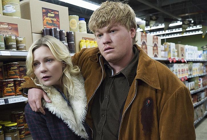 Fargo season 2 Kirsten Dunst as Peggy Blumquist with husband Ed