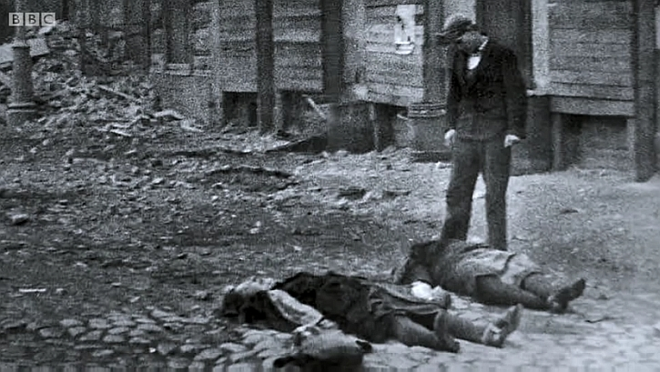 Famine victims during the Leningrad siege