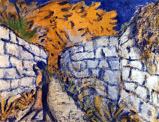 Otto Müller, Lovers between Walls, 1916