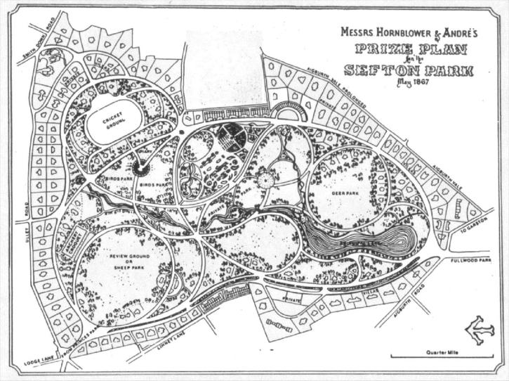 Sefton Park prize plan, 1867