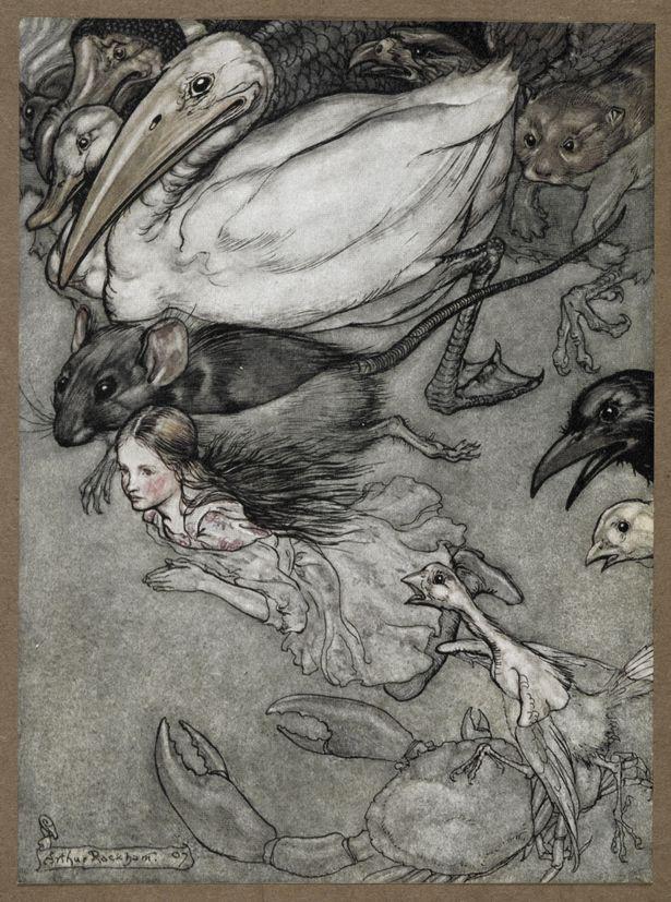 The Pool of Tears by Arthur Rackham