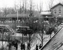 Arrival of Jews at the station of Vught
