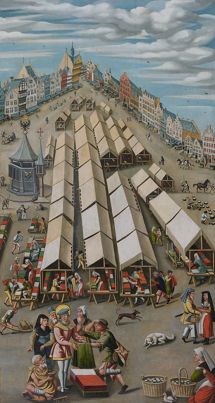Anonymous, 'The Cloth Market in 's-Hertogenbosch, circa 1530