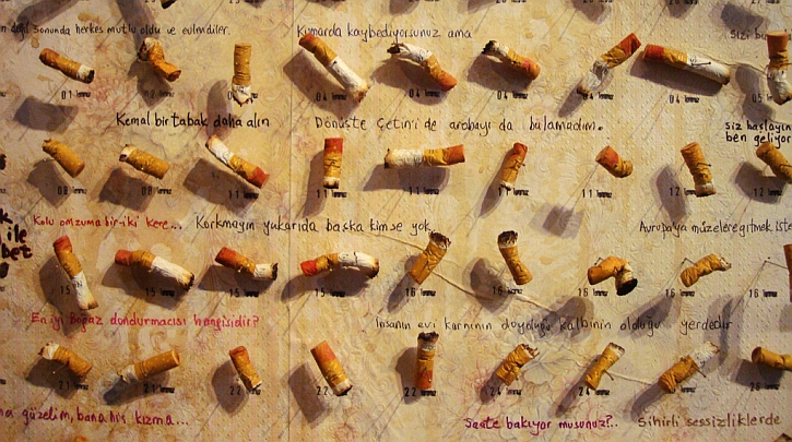Fusun's cigarettes, from the Museum of Innocence