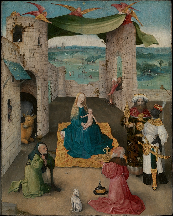 Hieronymus Bosch, The Adoration of the Magi, c1470-80