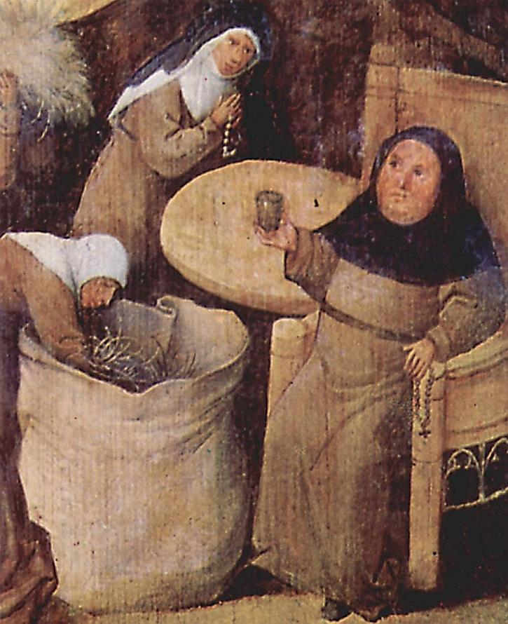 Hieronymus Bosch, The Haywain, detail
