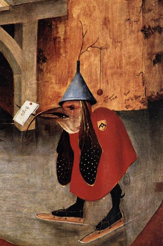 Hieronymus Bosch, The Temptation of St Anthony, detail
