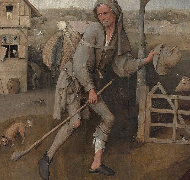 Hieronymus Bosch, The Wayfarer, detail, c. 1494–1516