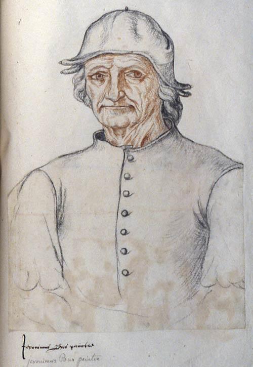 Jacques Le Boucq, Portrait of Hieronymus Bosch, c1550