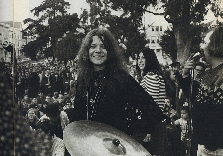 Janis Joplin in Golden Gate Park, San Francisco, 1966
