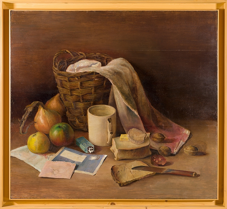 Still Life with Bread painted by Vught inmate, Johan van Zweden