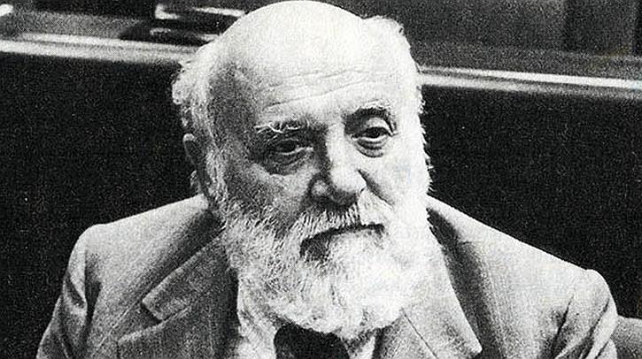 Altiero Spinelli pictured in the European Parliament