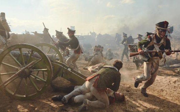 Andrei is wounded at the Battle of Borodino in the BBC adaptation by Andrew Davies
