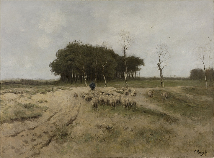 Anton Mauve, On the Heath near Laren, 1887