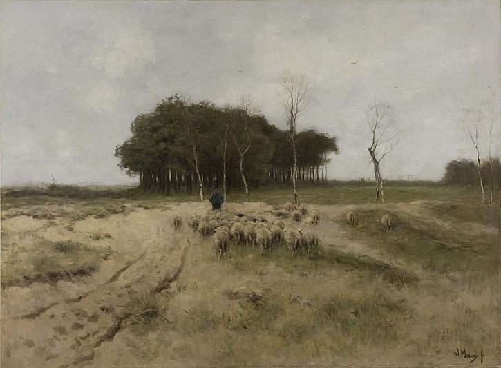 Anton Mauve, On the Heath near Laren, 1887