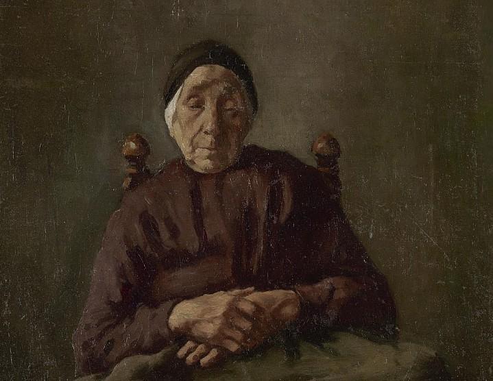 Anton van Rappard, Old Drenthe Woman, 1882-3