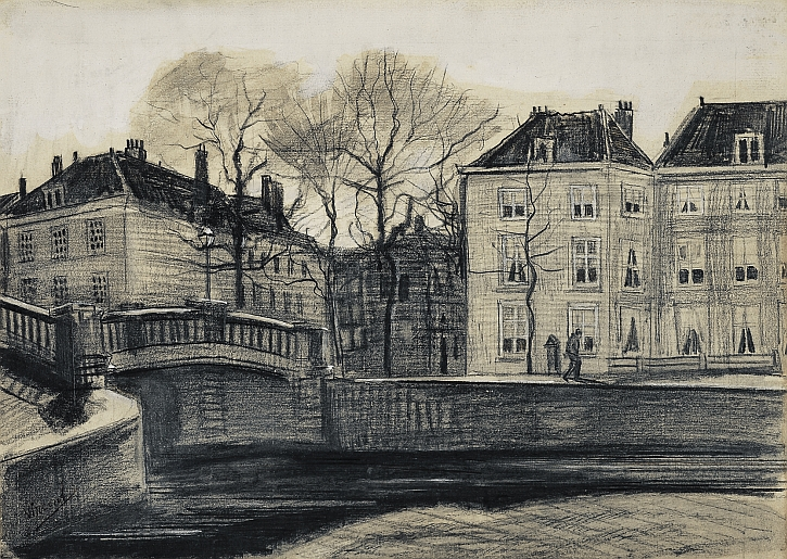 Bridge and Houses on the Corner of Herengracht-Prinsessegracht, The Hague, 1882