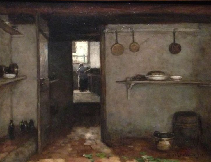 Johan Weissenbruch, Cellar of the Artist's Home in the Hague