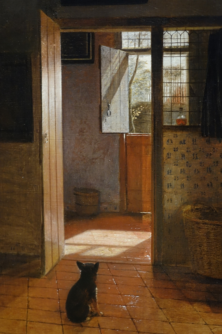 Pieter de Hooch, A Mother Delousing her Child's Hair, detail