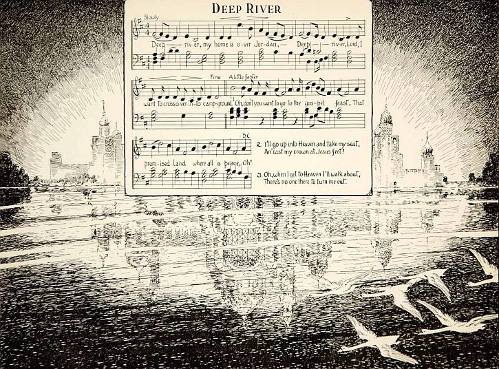 Deep River: original sheet music, 1927