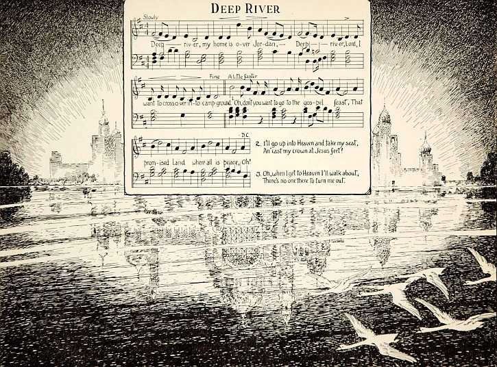 Deep River: original sheet music, 1927