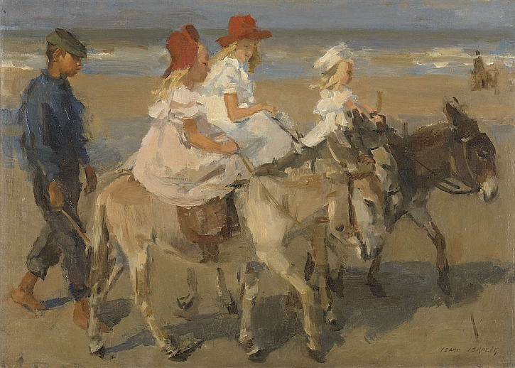 Isaac Israels, Donkey Rides on the Beach, c1890-1901