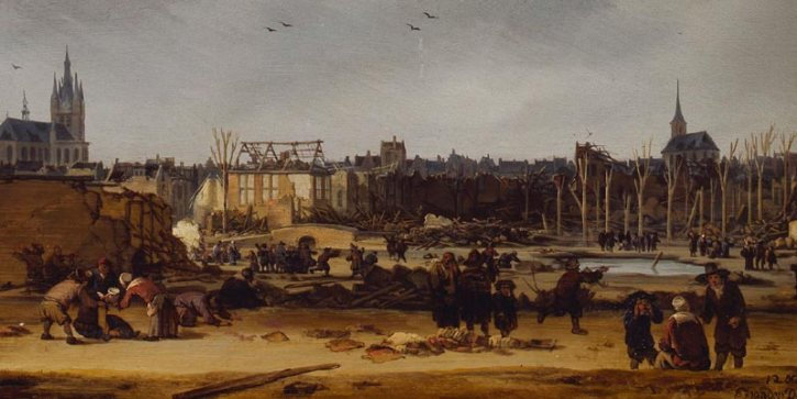 Egbert van der Poel, A View of Delft after the Explosion of 1654, 1654