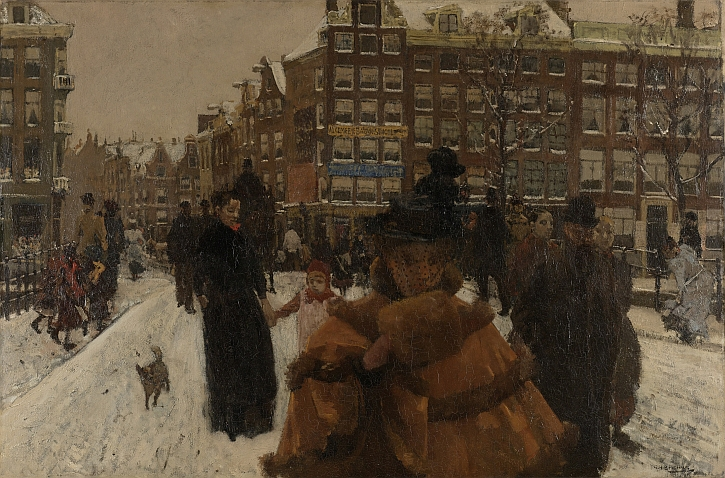 George Hendrik Breitner - The Singelbrug near the Paleisstraat in Amsterdam