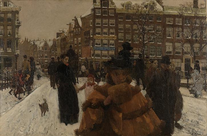 George Hendrik Breitner - The Singelbrug near the Paleisstraat in Amsterdam
