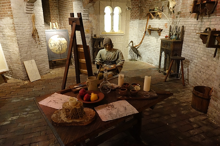 Hieronymus Bosch Art Centre recreation of Bosch's workshop