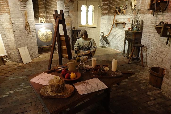 Hieronymus Bosch Art Centre recreation of Bosch's workshop