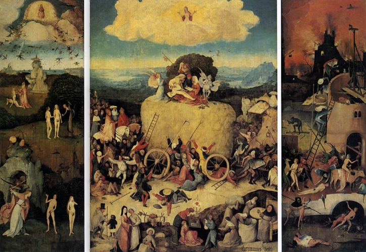 Hieronymus Bosch, The Haywain, 1510-16