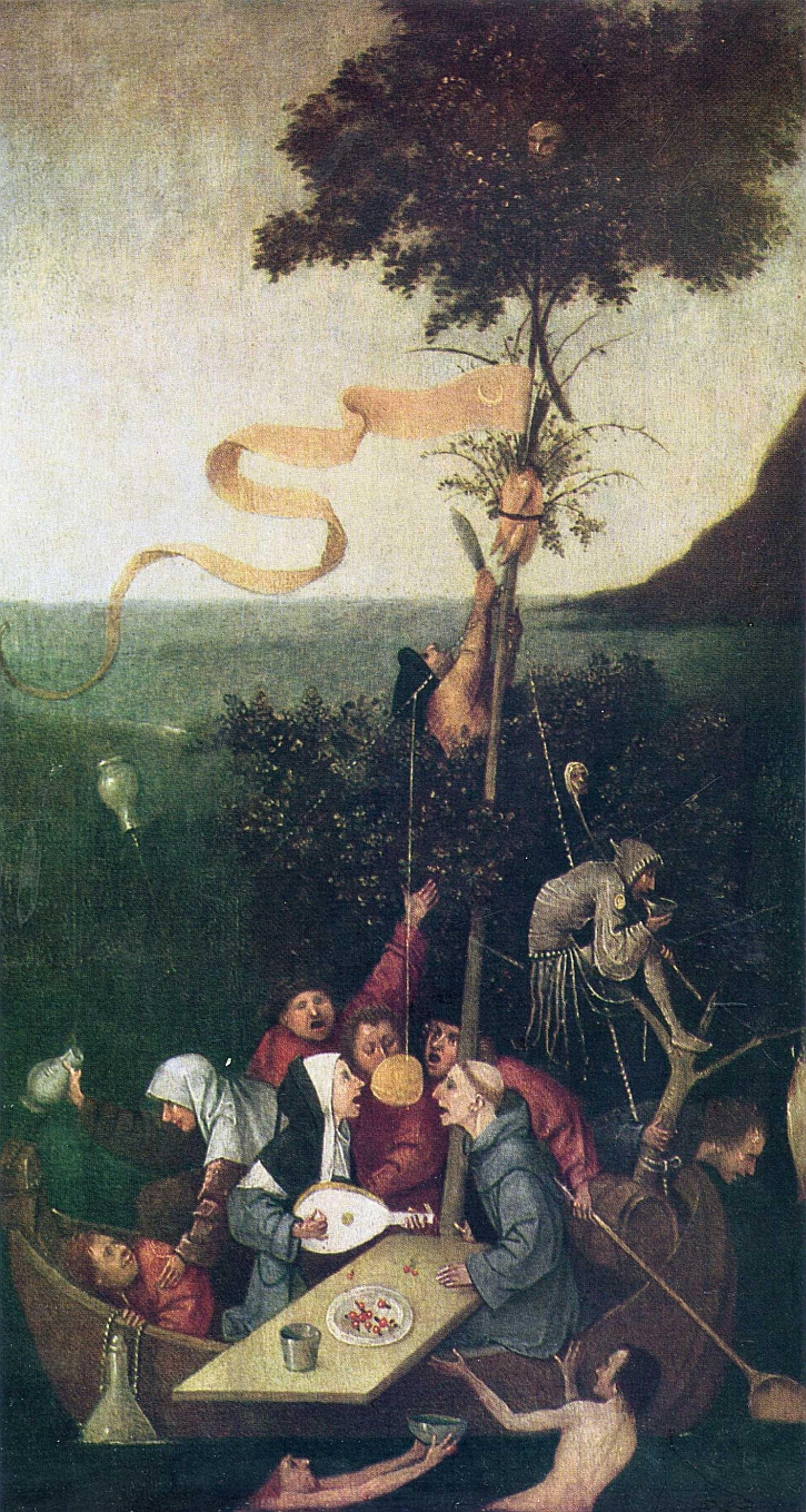 Hieronymus Bosch, The Ship of Fools, interior panel, c 1500-10