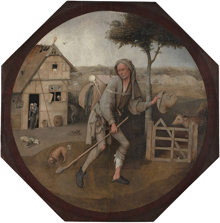 Hieronymus Bosch, The Wayfarer outer panel, c 1500-10
