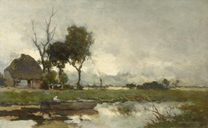 Johan Weissenbruch, Autumn Landscape,