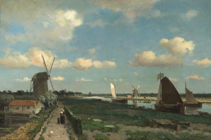 Johan Hendrik Weissenbruch, The Trekvliet, 1870