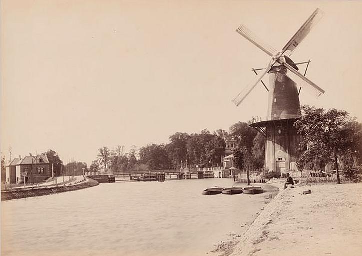Johann Georg Hameter, Railway Bridge over the Meuse nearby Rotterdam, 1877